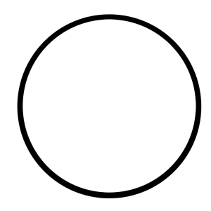 white circle 1